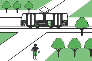 реклама на трамваях в Курске