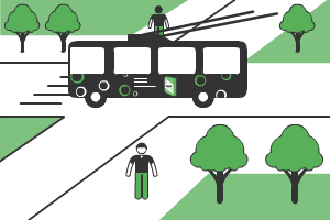 реклама на троллейбусах во Владимире