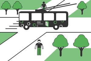 реклама на троллейбусах в Красноярске
